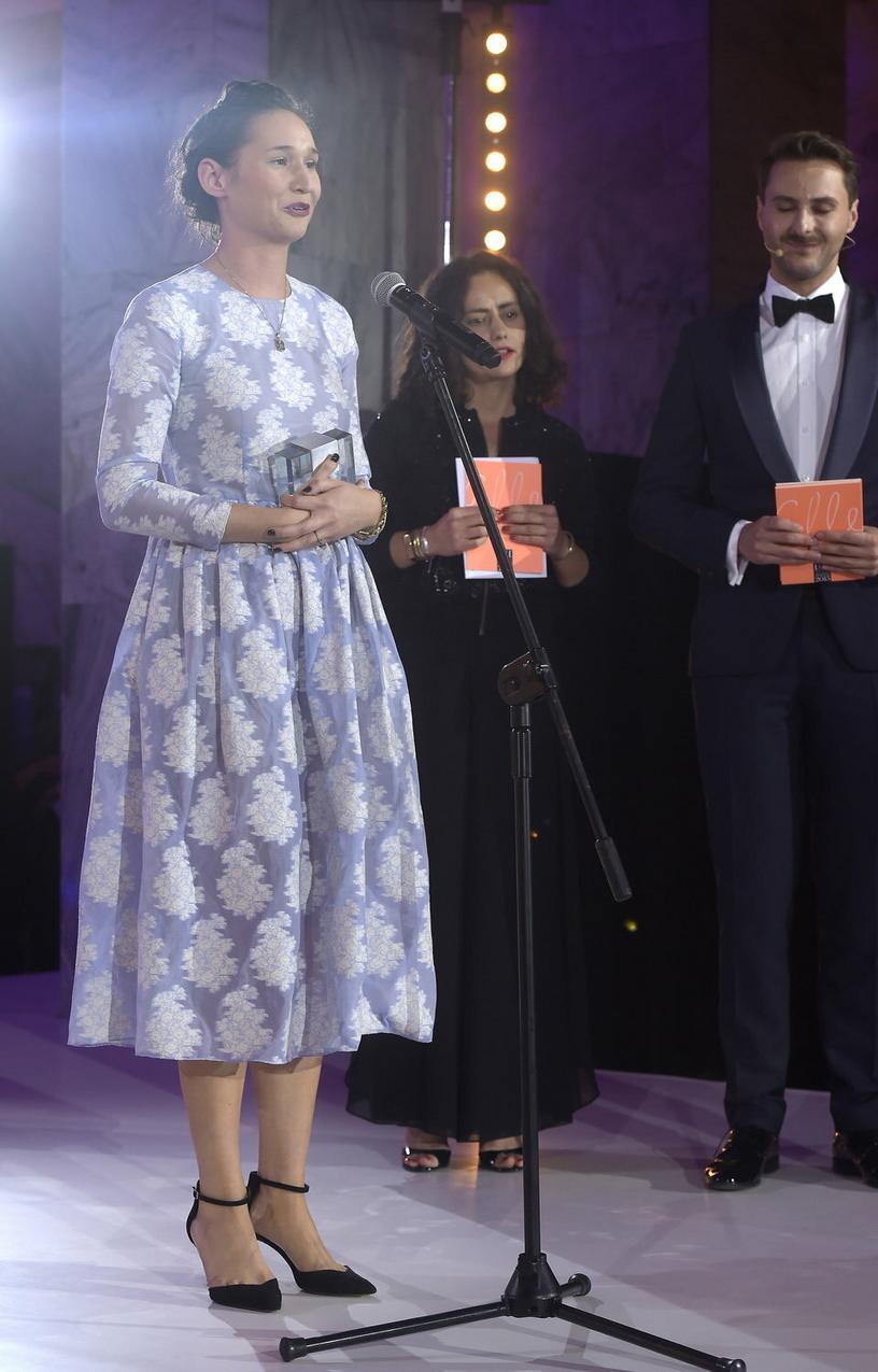 Zofia Chylak podczas rozdania nagród Elle