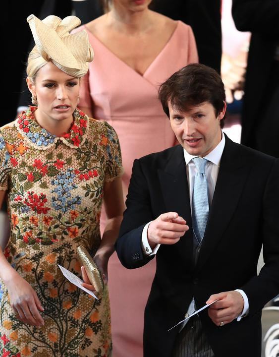 Az énekes James Blunt és kedves felesége Sofia Wellesley  /Fotó: AFP
