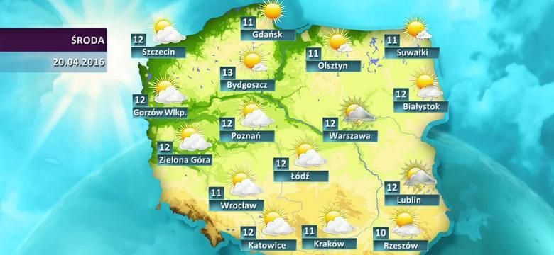Prognoza pogody dla Polski - 20.04