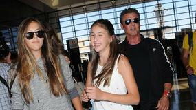 Sylvester Stallone i jego trzy córki