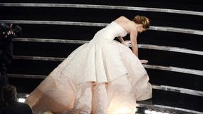 Oscary 2013: Wpadka Jennifer Lawrence. Przewróciła się na  schodach