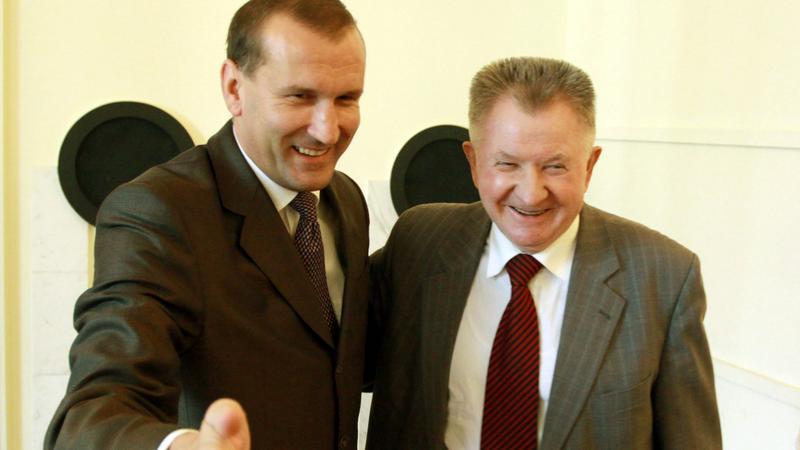 Przewodniczący SDPL Wojciech Filemonowicz (L)
