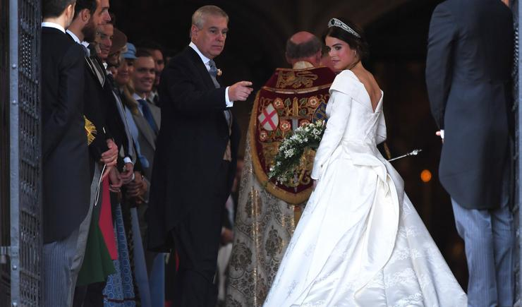 Eugénia hercegnő a windsori királyi rezidencia Szent György-kápolnájában / Fotó: MTI- Alastair Grant