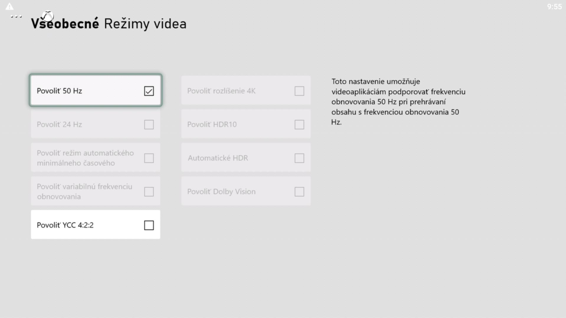 Môžeš tu zahliadnuť aj riadok so 120 fps, ak tvoj monitor či televízor podporuje takúto frekvenciu obrázkov za sekundu.