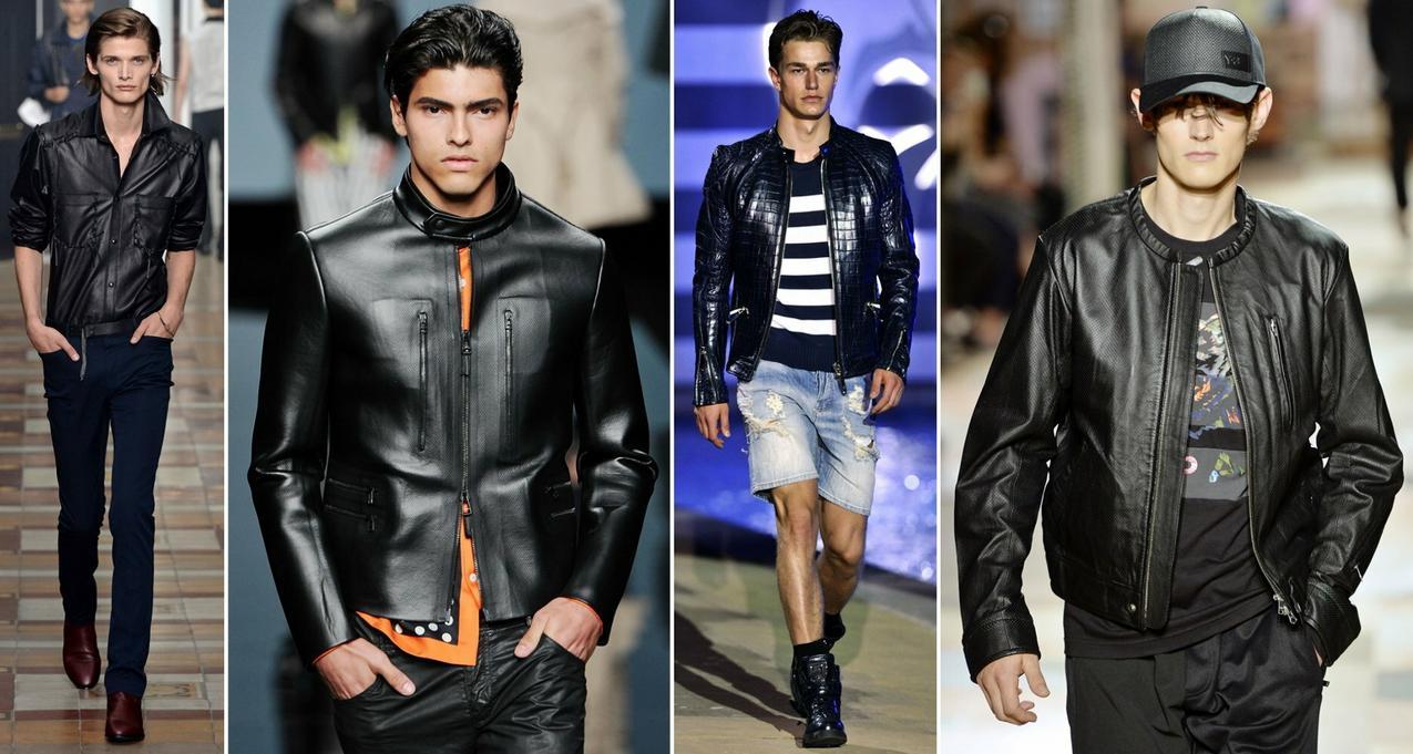 Skórzane kurtki dla mężczyzn