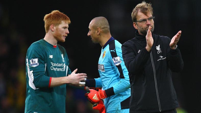 A Liverpool menedzsere, Jürgen Klopp (jobbra) Bogdán (balra) helyett Danny Wardra számít az Európa-ligában / Fotó: AFP