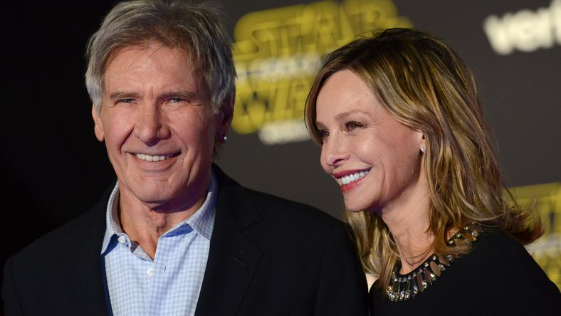 Ford még a Star Wars: Az ébredő erő bemutatóján feleségével, Calista Flockhart-tal /Fotó: Northfoto