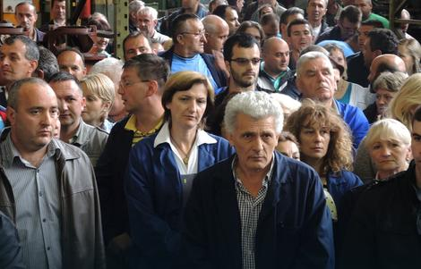 Protest radnika FAP-a u centru Priboja