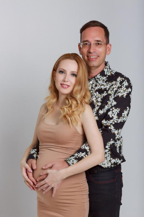 Kiss-Várhegyi Flóra babát vár / Fotó: Bocskay Zsolt
