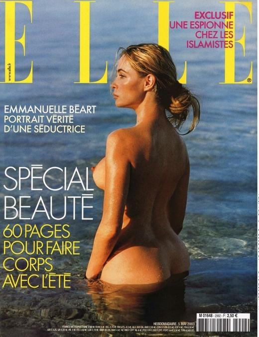Emmanuelle Beart couverture ELLE 2003