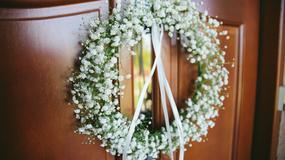 Dekoracje ślubne z gipsówki. Ślub i wesele w bieli i zieleni