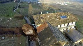 Ogromny głaz stoczył się na gospodarstwo w Tyrolu Południowym