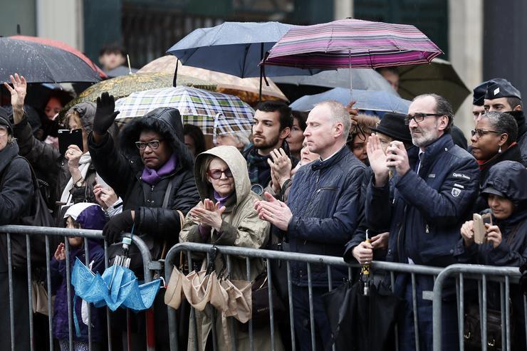 Itt intézett beszédet az országhoz Emmanuel Macron elnök az 1200 meghívott előtt /Fotó: MTI