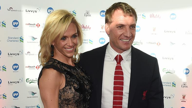 Charlotte és Brendan Rodgers még Liverpoolban, munkatársakként ismerkedtek meg/Fotó: AFP