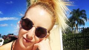 Urszula Radwańska korzysta ze słońca na Florydzie
