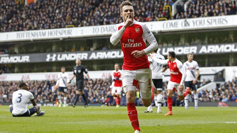 Ramsey a Tottenham kapuját is bevette a hét végén / Fotó: AFP
