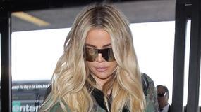 Khloe Kardashian skrzętnie ukrywa ciążowy brzuszek pod wielką kurtką