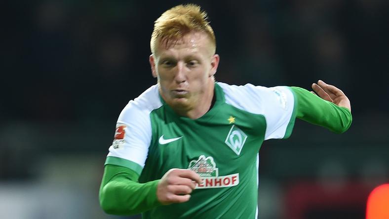 Kleinheisler László a Werder mezét viseli, néhány hónapja aligha hitte volna, hogy ez megtörténik / Fotó: AFP