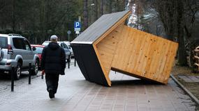Huraganowy halny zrywał dachy i przewracał drzewa na Podhalu