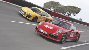 Audi R8 5.2 FSI quattro plus kontra Porsche 911 Turbo S - Spotkanie w ekstraklasie