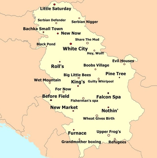 Neko Je Napravio Urnebesnu Mapu Srbije Sa Imenima Gradova