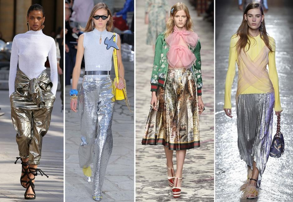 Metaliczne ubrania na lato
