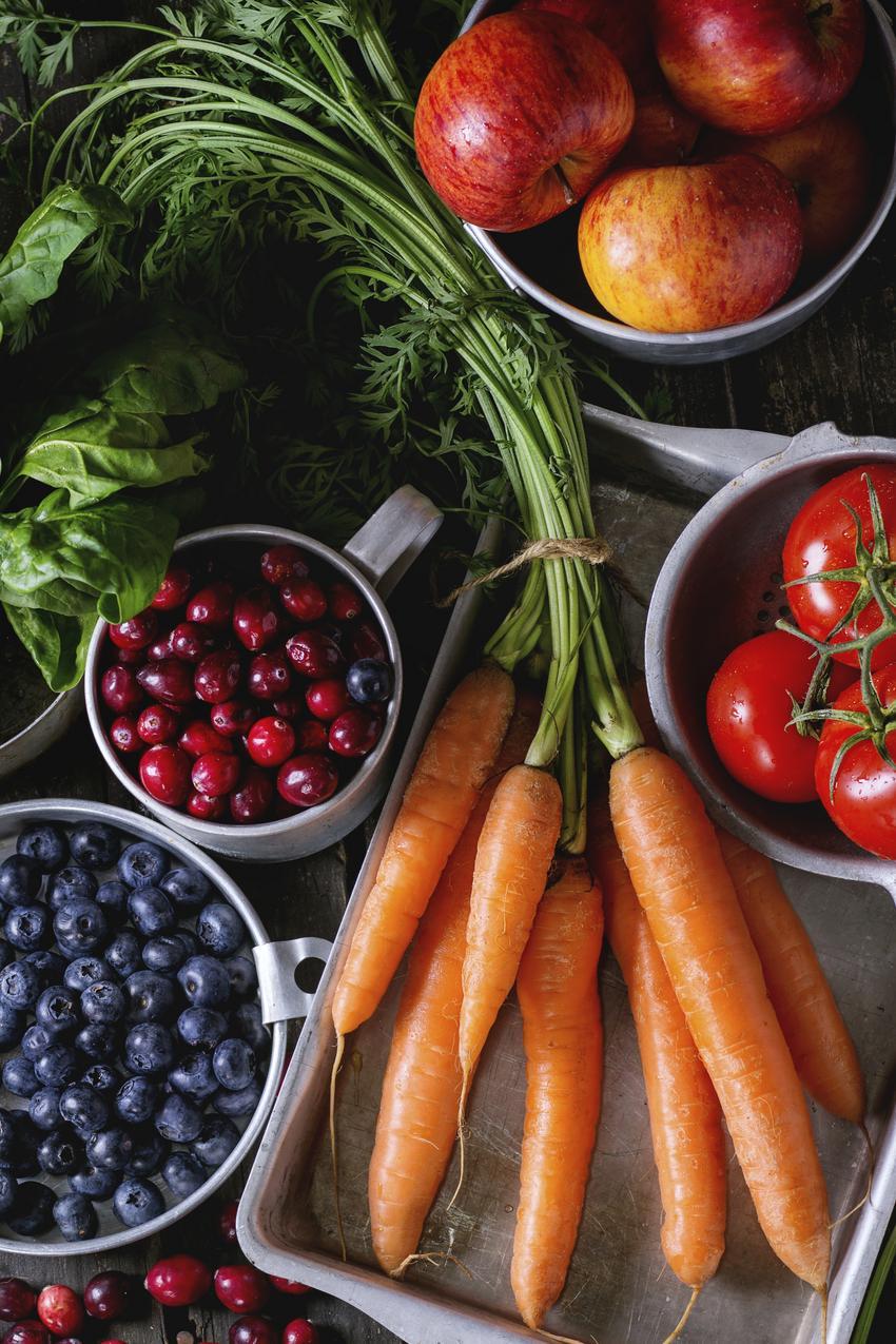 Warzywa i owoce są bogatym źródłem witamin i antyoksydantów