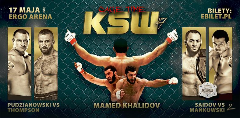 Plakat KSW27 - Cage Time
