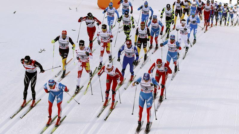 Biegacze narciarscy w Val di Fiemme