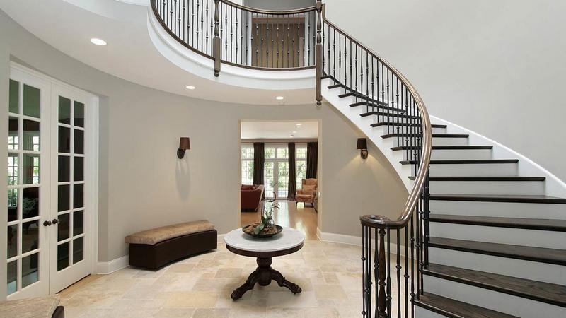 Aran acja klatek schodowych i schod w a feng shui dom for Square spiral staircase plans hall