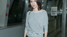 Katarzyna Maciąg w bluzeczce w paski