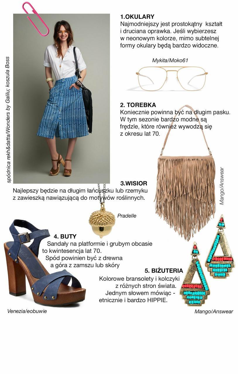 Ściągawka z mody – jak nosić trend lata 70  - Vumag