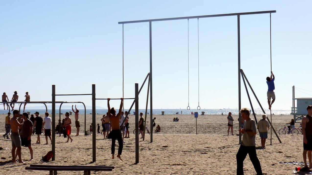 Ćwiczenia na Venice Beach, fot. Dominika Roman