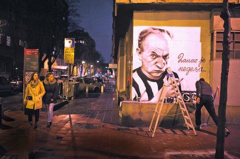 Obnovljen mural Duška Radovića