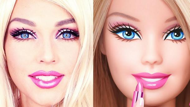 Makijaż a'la lalka Barbie. Kandee Johnson pokazuje, jak zrobić go w kilka minut