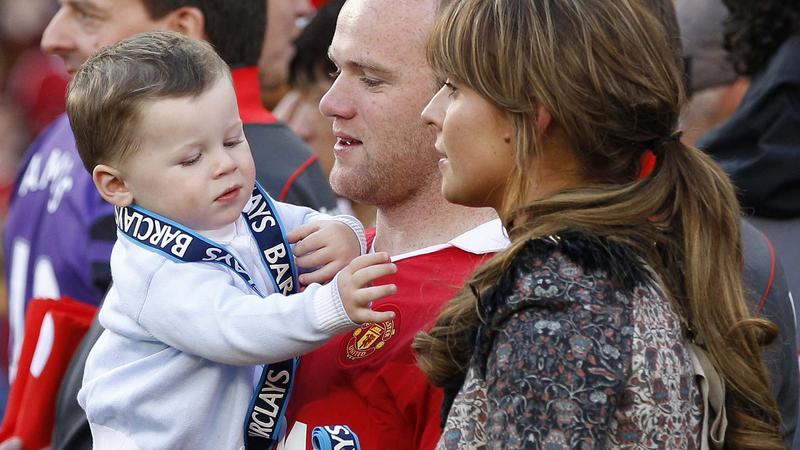 Wayne Rooney Z Żoną Wayne Rooney z synem Kaiem i on Coleen Foto Onet