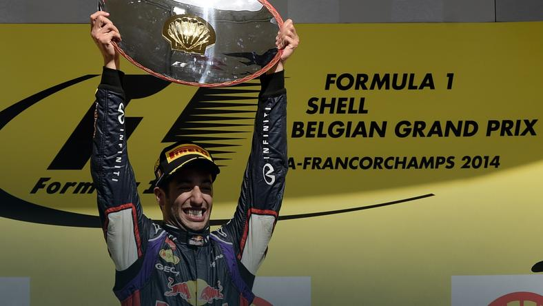 Daniel Ricciardo na torze Spa-Francorchamps