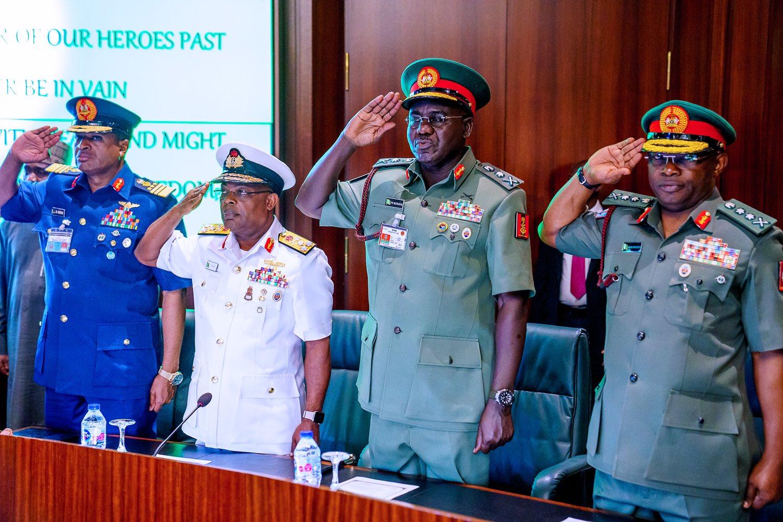 Nigeria's Service Chiefs [Twitter/@BashirAhmaad]