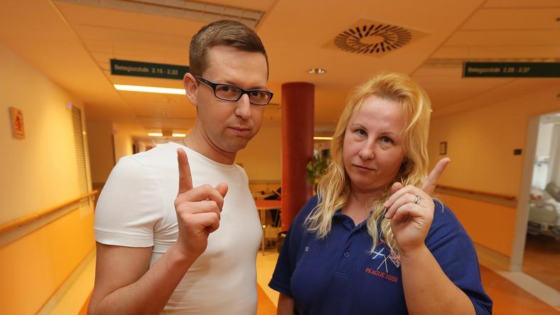 Az egész kórház büszke Krisztina és Levente hősies tettére /Fotó: Weber Zsolt