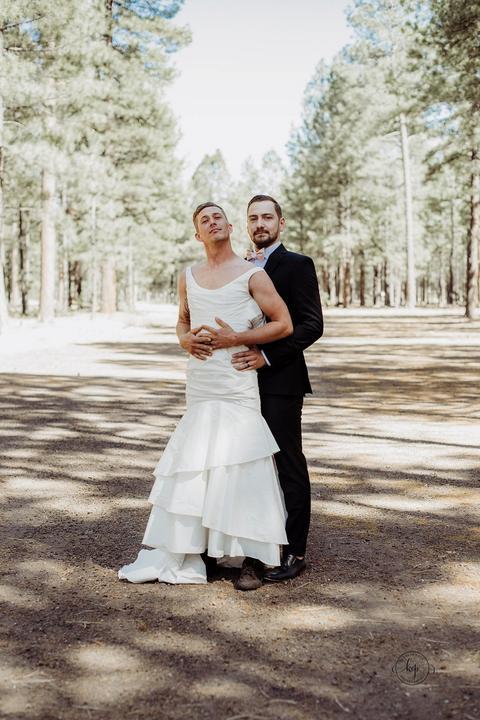 A vőlegény biztos nem erre számított /Fotó: Northfoto