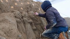 W gdańskiej Oliwie powstaje piaskowa szopka