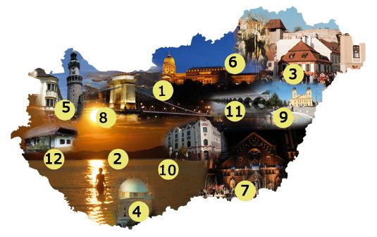 magyarország turisztikai térkép Ezek a kedvenc úti célok Magyarországon   Blikk.hu magyarország turisztikai térkép