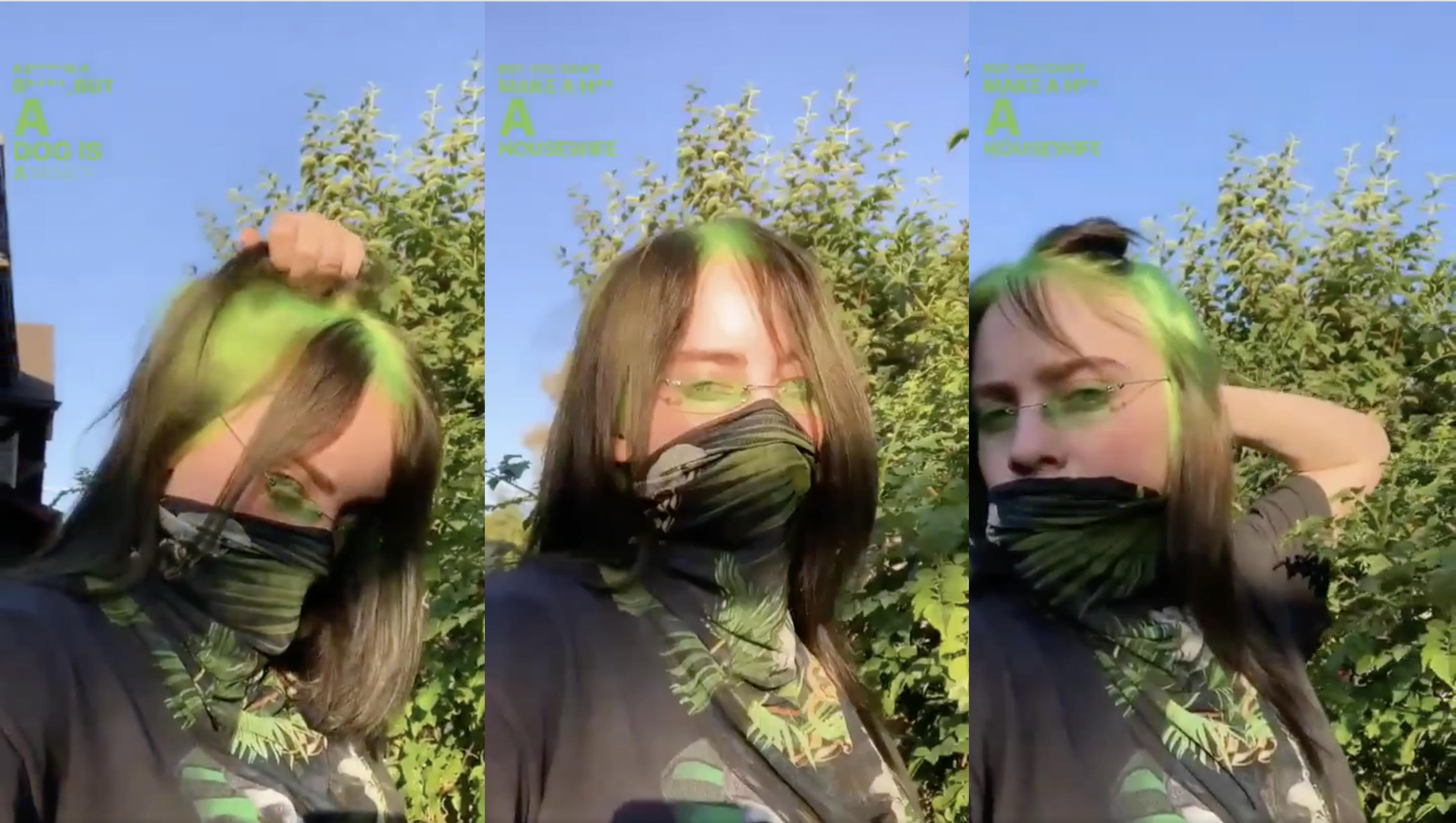 Billie Eilish Hat Einen Neon Grunen Ansatz Noizz