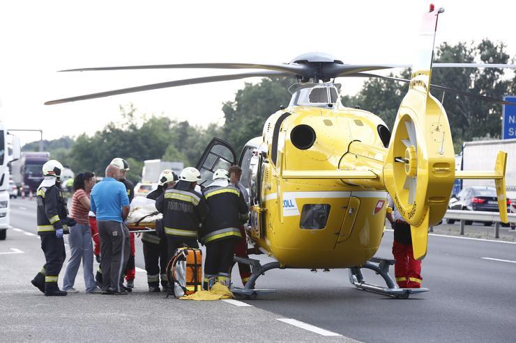 Mentőhelikopterrel szállították a súlyos sérültet / Fotó: Fuszek Gábor