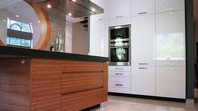 Mozaika w dużej kuchni