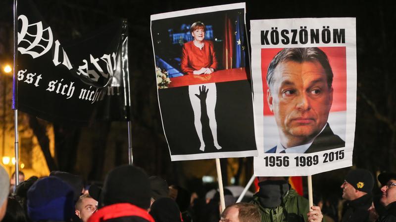 Tüntetés Lipcsében / Fotó:AFP