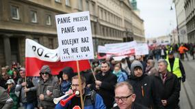 Protest frankowiczów przeciwko bierności władz w ich sprawie