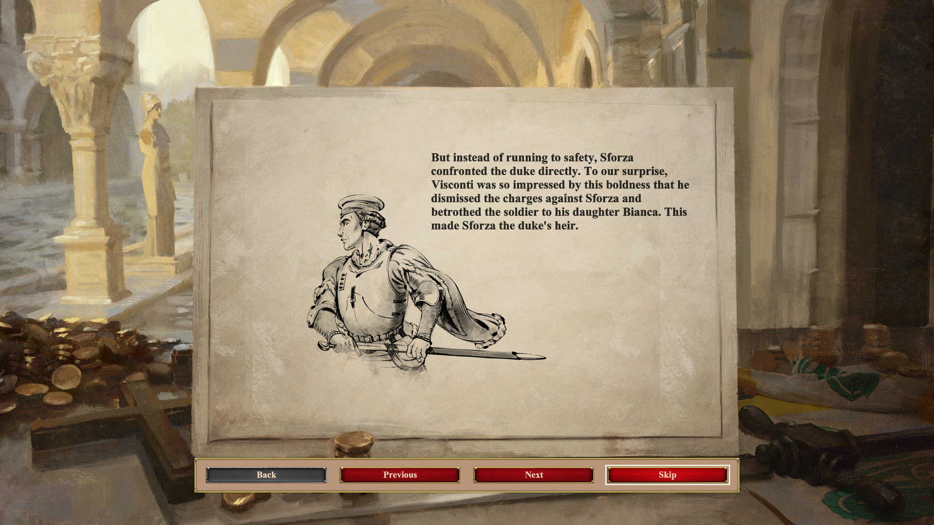 Nadšenci histórie si môžu z hry odniesť cenné poznatky. Okrem zabudovanej encyklopédie nechýba ani krátke intro pred jednotlivými kampaňami, ktoré vždy ozrejmí danú situáciu a predstaví aktérov konfliktu. Spomeňme napríklad Orleánsku pannu Janu z Arku, krutého a krvilačného kniežaťa Vlada Draculu, renesančného žoldniera Giovanniho Sforzu, slávneho dobyvateľa Džingischána, vládcu Aztékov Montezumu či moslimského sultána Saladina. Priestor je venovaný aj slávnym bitkám histórie, ktoré formovali osudy národov.