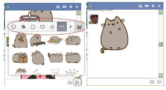 Naklejki na Facebooku