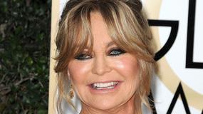 Złote Globy 2017: Goldie Hawn zaprezentowała dekolt i... dziwną twarz